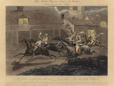 The First Steeplechase on Record by Henry Thomas Alken