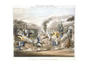 The Progress of Steam, a View in Regent's Park, 1831 by Henry Thomas Alken