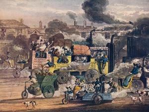 The Progress of Steam - a View in White Chapel Road, 1905 by Henry Thomas Alken