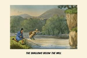 The Shallows Below the Mill by Henry Thomas Alken