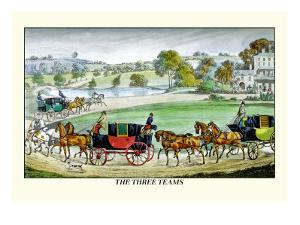 The Three Horse Teams by Henry Thomas Alken