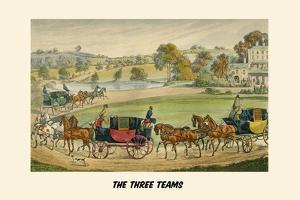 Three Teams by Henry Thomas Alken