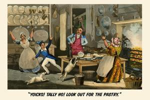 Yoiks Talley Ho! Look Out for the Pastry by Henry Thomas Alken