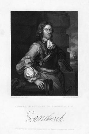 Edward Montagu, 1st Earl of Sandwich, English Naval Officer