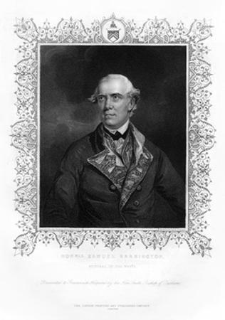 Samuel Barrington, British Admiral, 19th Century