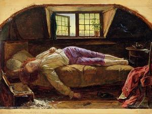 The Death of Chatterton, C.1856 (Oil on Panel) by Henry Wallis