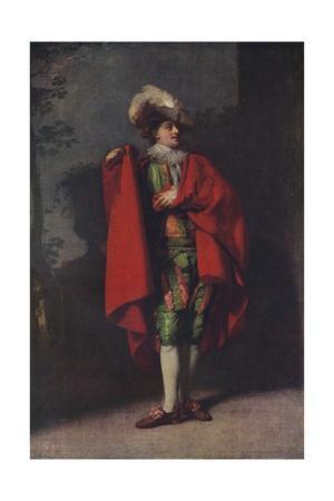 John Palmer as Count Almaviva in 'The Spanish Barber', 1779, (1917)