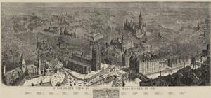 A Bird'S-Eye View of Manchester in 1889 by Henry William Brewer