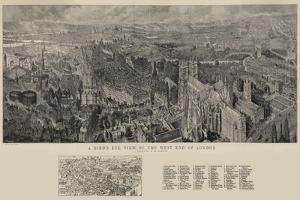A Bird's Eye View of the West End of London by Henry William Brewer