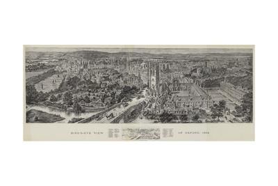 Bird's-Eye View of Oxford, 1894