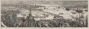 Bird'S-Eye View of Portsmouth Harbour by Henry William Brewer