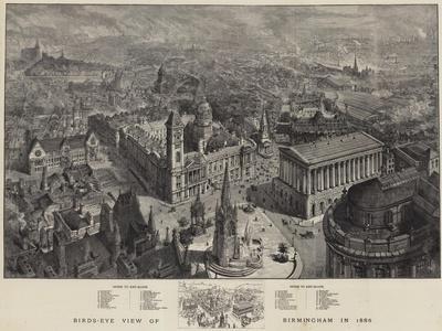 Birds-Eye View of Birmingham in 1886