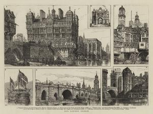 Old London Bridge by Henry William Brewer