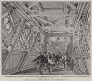 Racing across the Tower Bridge on Monday Morning by Henry William Brewer
