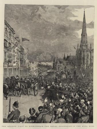 The Queen's Visit to Birmingham, the Royal Procession in the Bull Ring