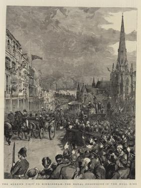 The Queen's Visit to Birmingham, the Royal Procession in the Bull Ring by Henry William Brewer