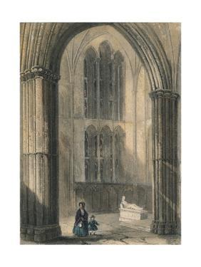 Worcester Cathedral: North Transept of Choir, 1836 by Henry Winkles