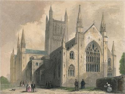 Worcester Cathedral, North West View, 1836