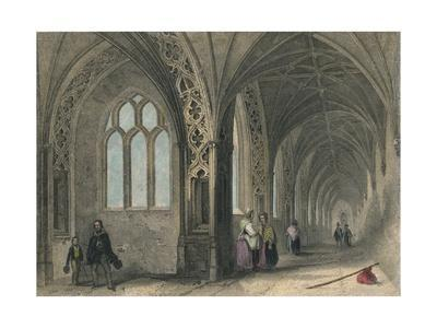 Worcester Cathedral. The Cloisters, 1836