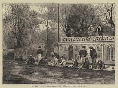 A Sketch on the Isis, the Oxford Crew at Home