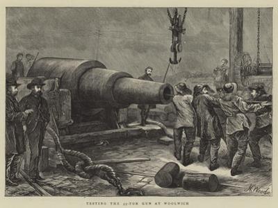Testing the 35-Ton Gun at Woolwich