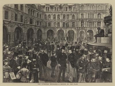 The Liverpool Exchange, a Sketch on the Flags