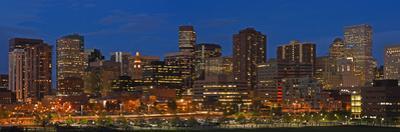 Usa, Colorado, Denver, Panoramic Cityscape at Night by Henryk Sadura