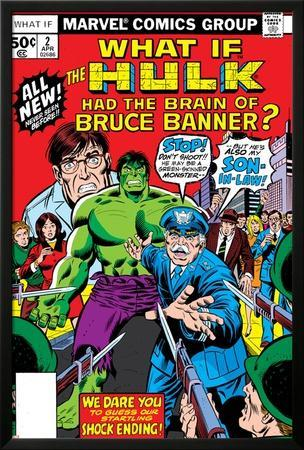 What If? No.2 Cover: Hulk, Thunderbolt Ross, Banner and Bruce