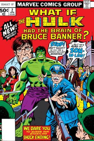 What If? No.2 Cover: Hulk, Thunderbolt Ross, Banner and Bruce by Herb Trimpe