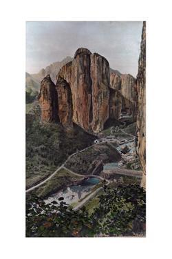 A Scenic View of Temples Nestled in Crevices of Mountainsides by Herbert C. and Deng White and Bao-Ling