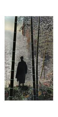 An Abbot Enjoys the Morning Light Outside a Chinese Monastery by Herbert C. and Deng White and Bao-Ling