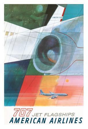 Boeing 707 Jet Flagships - American Airlines by Herbert Danska