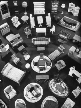 Doll House Furniture and Rugs Being Sold at F.A.O. Schwarz by Herbert Gehr