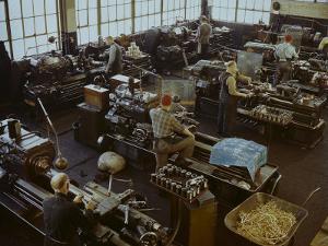 Industrial Painting in Bethlehem Steel Mach. Shop at Staten Is by Herbert Gehr
