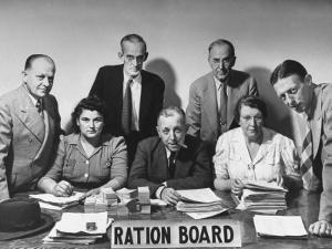 Members of the Bristol Ration Board Who are All Volunteers Doing a Tough Job without Pay by Herbert Gehr