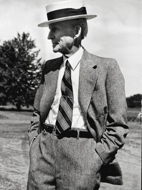Portrait of Automobile Pioneer Henry Ford by Herbert Gehr