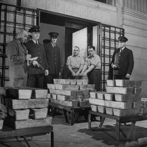 Silver Bars Arriving at Chase National Bank by Herbert Gehr