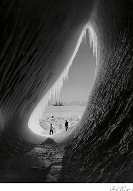 Cavern in an Iceberg, Taylor and Wright by Herbert George Ponting