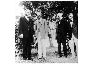 Herbert Hoover (With Henry Ford, Thomas Edison, Harvey Firestone) Art Poster Print