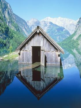 Fisherman's house in the Ober Lake, Bavaria, Germany by Herbert Kehrer