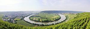Germany, Baden-Wurttemberg, Mundelsheim, Neckarschleife by Herbert Kehrer