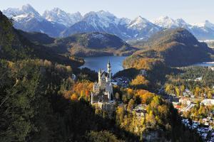 Germany, Bavaria, AllgŠu, Neuschwanstein Castle by Herbert Kehrer