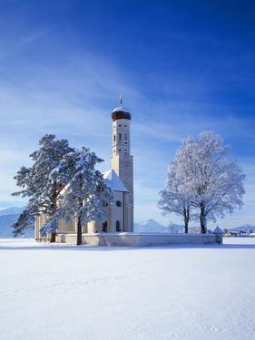 Germany, Bavaria, AllgŠu, Schwangau, Pilgrimage Church Saint Coloman by Herbert Kehrer
