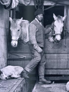 Capt. Oates and Two of the Ponies on the Terra Nova, from Scott's Last Expedition by Herbert Ponting