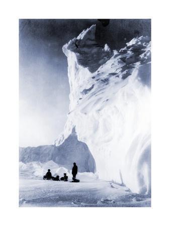 Dog Team Resting During the Terra Nova Expedition, 1910