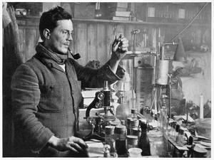 'Dr Atkinson in his Laboratory', 1911-1912 by Herbert Ponting