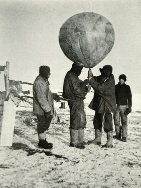 'Dr. Simpson Sending Up a Balloon', 1911, (1913) by Herbert Ponting