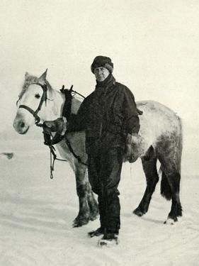 'Dr. Wilson and Pony 'Nobby', c1911, (1913) by Herbert Ponting