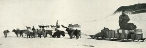 'Meares and Demetri with Their Dog Teams Leaving Hut Point', c1911, (1913) by Herbert Ponting