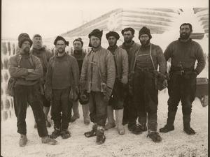 Members of Scott's Expedition Team by Herbert Ponting